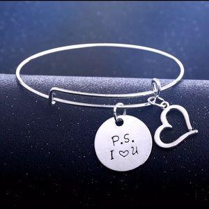 Silver PS I Love You Charm Bracelet